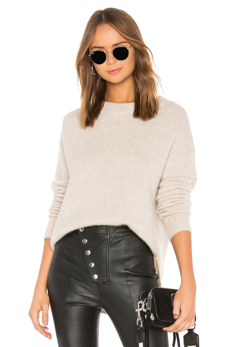 ONE GREY DAY Lyle Cashmere Sweater in Beige