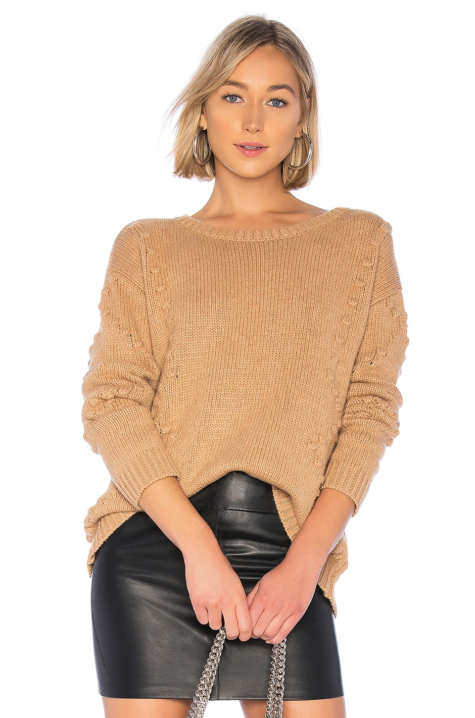 ONE GREY DAY Luna Pullover in Tan