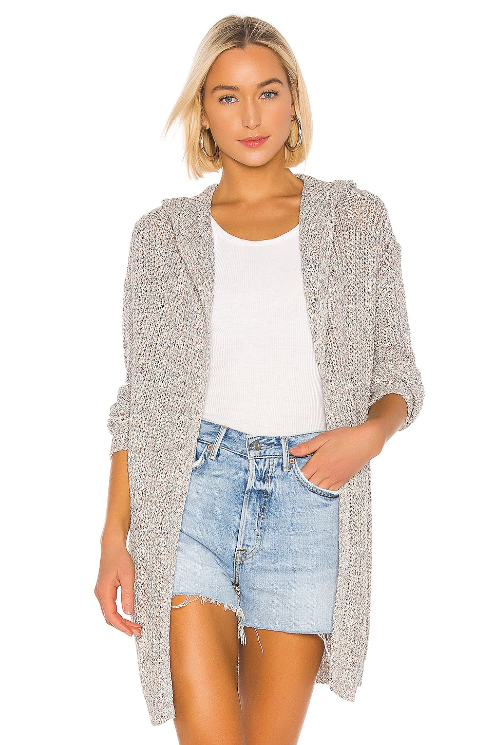 One Grey Day Paloma Cardigan in Sea Combo