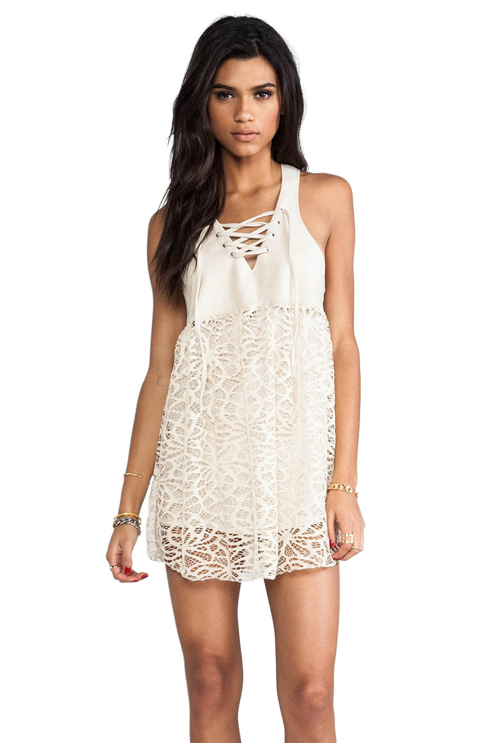One Teaspoon Lace Lulu Dress in Cream