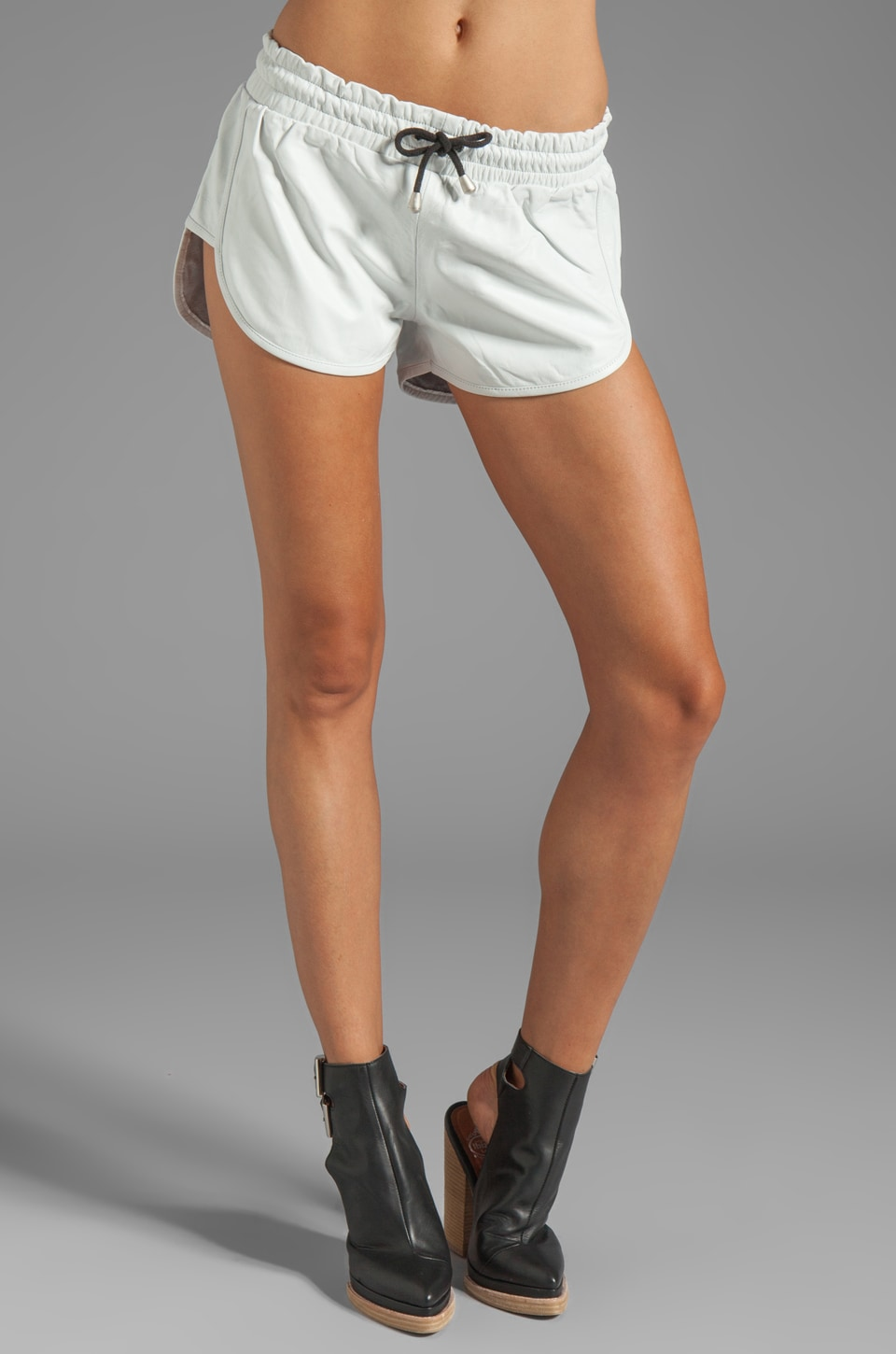 One Teaspoon Bowie Leather Vagabonds in White