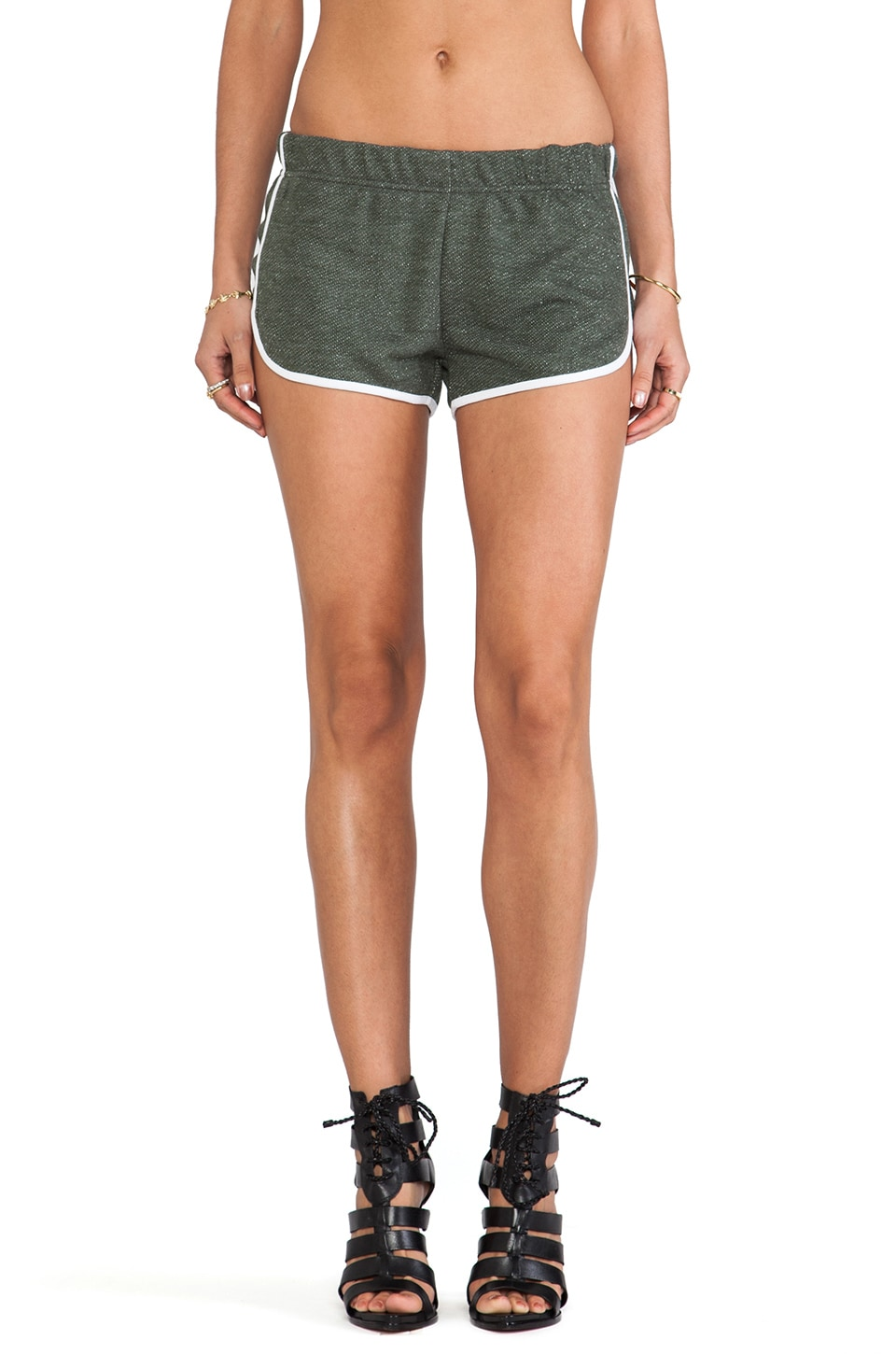 One Teaspoon Wagoneer Running Shorts in Black