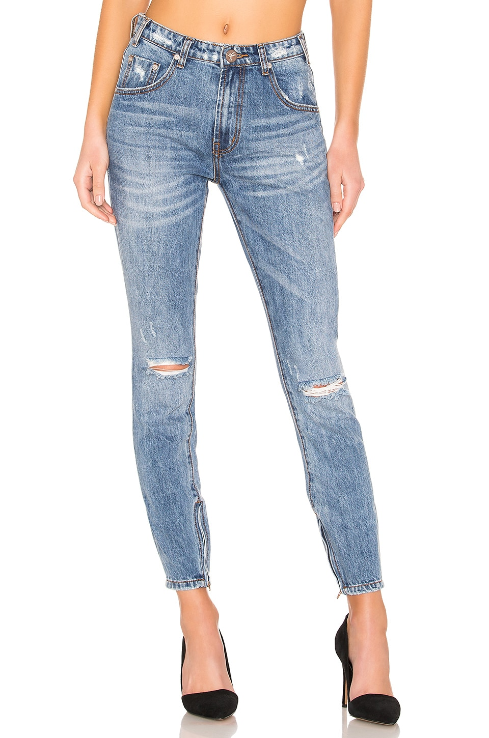 One Teaspoon Freebirds High Waist Skinny Jean in Johnny Blue