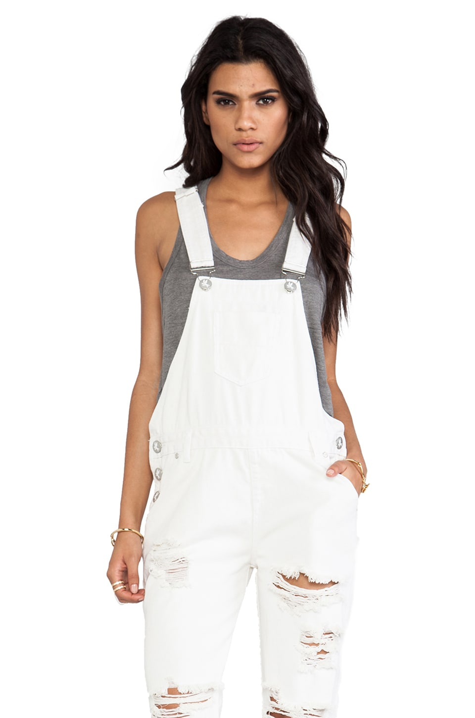 One Teaspoon Awesome Overalls in Pure