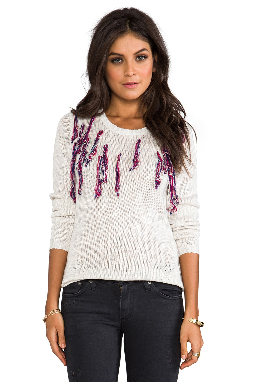One Teaspoon Santeria Knit Jumper in Cream