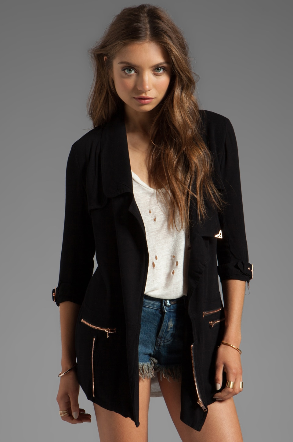 One Teaspoon Rebel Trench in Black