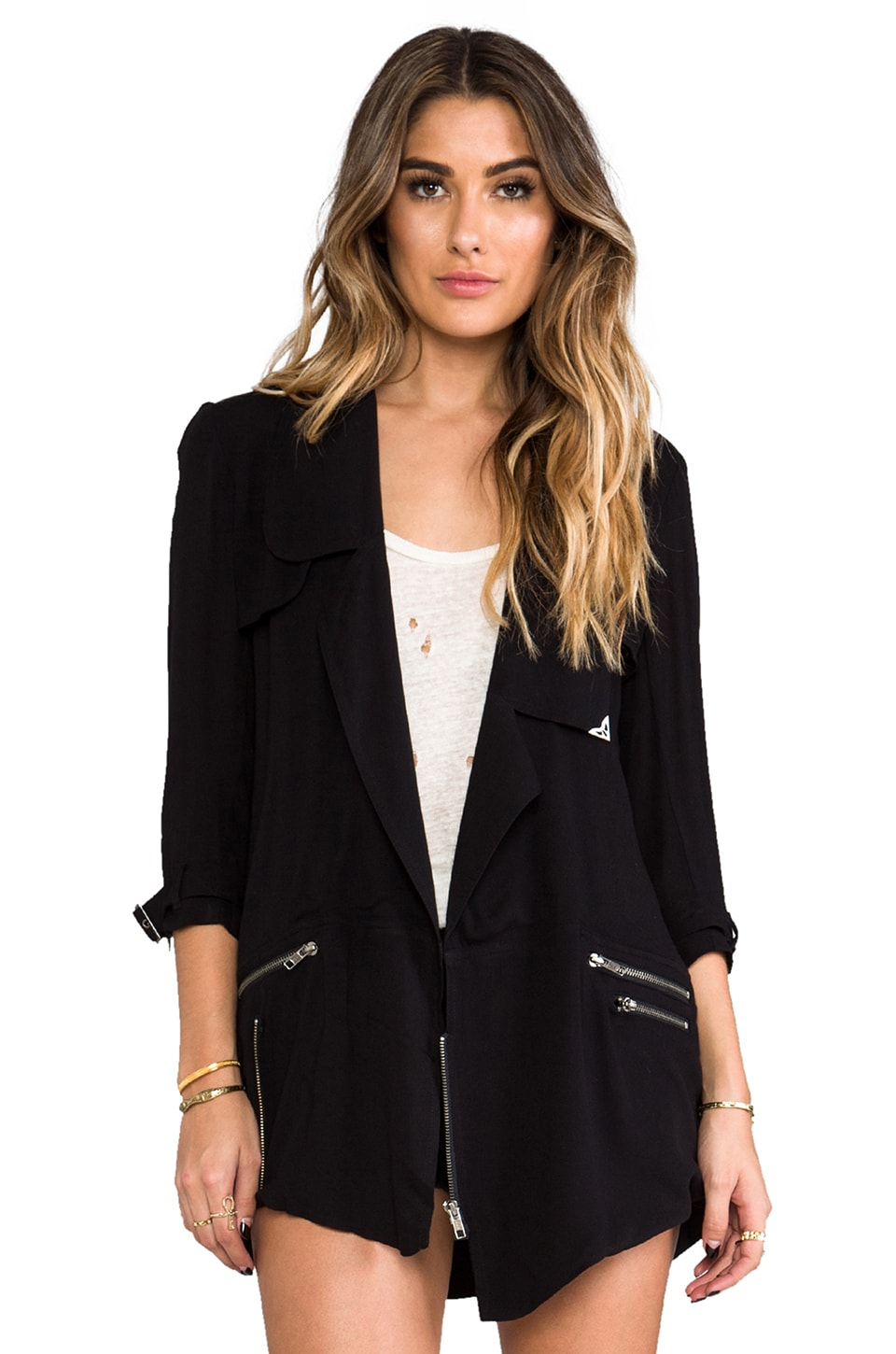 One Teaspoon Baggy Trench in Black