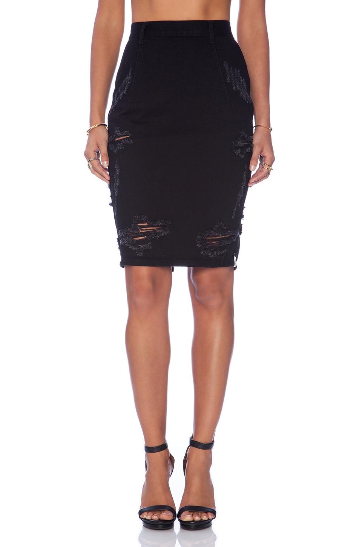 One Teaspoon Free Love pencil Skirt in Black