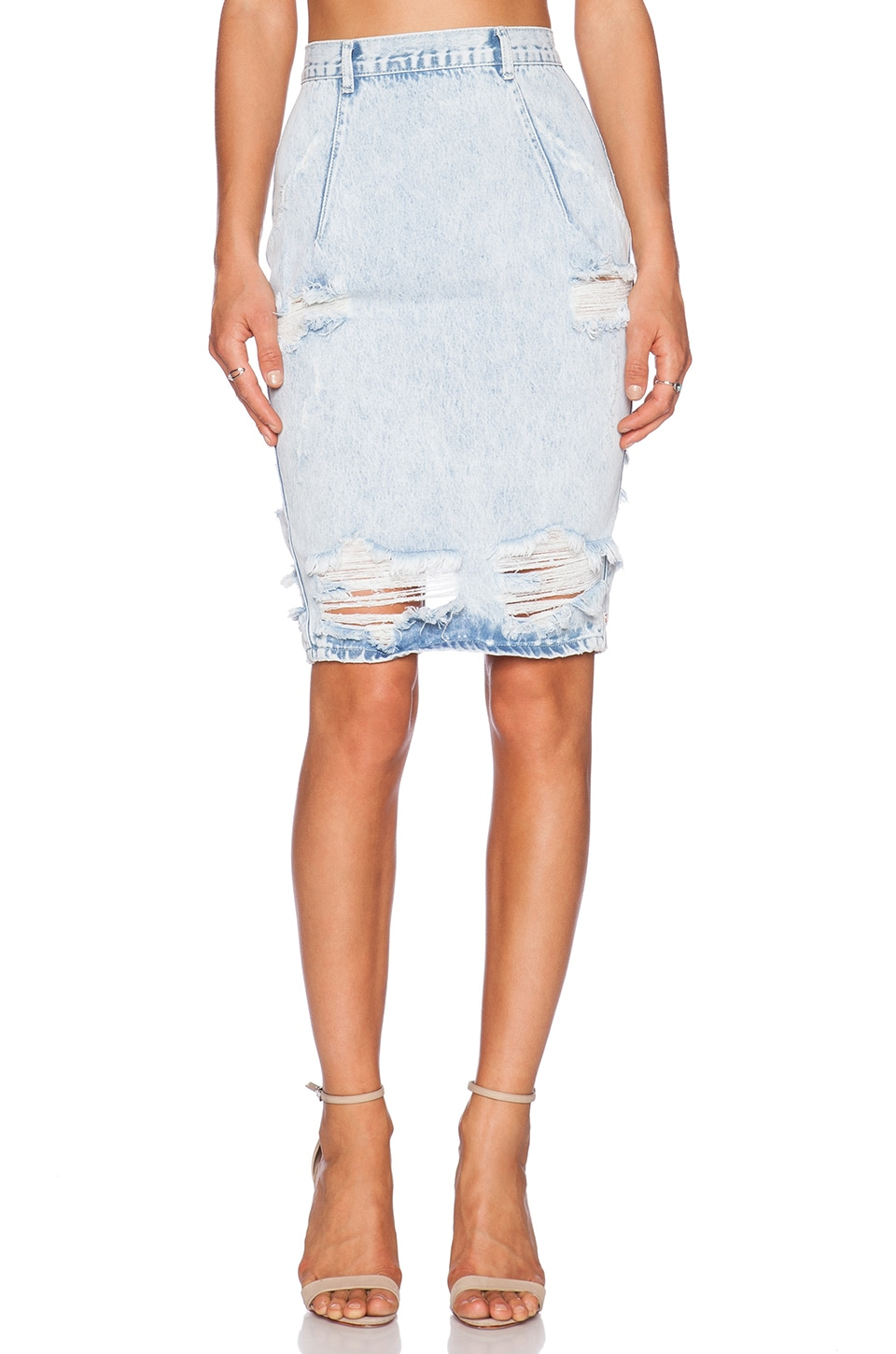 One Teaspoon Free Love Skirt in Salty