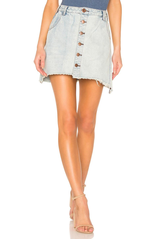 One Teaspoon Viper High Waist Button Through Mini Skirt in Old West