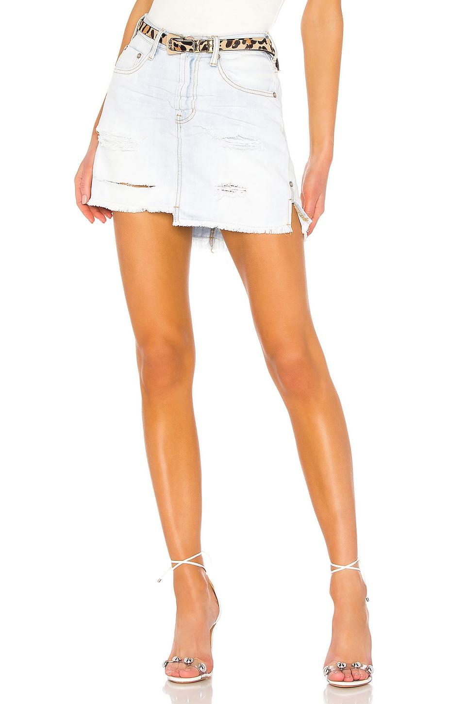 One Teaspoon 2020 Mini High Waist Skirt in Brando