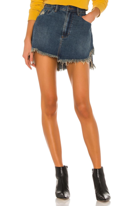 One Teaspoon Vanguard Skirt in Dirty Indigo