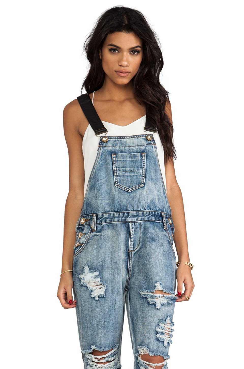 One Teaspoon Awesome Overalls in Cobain