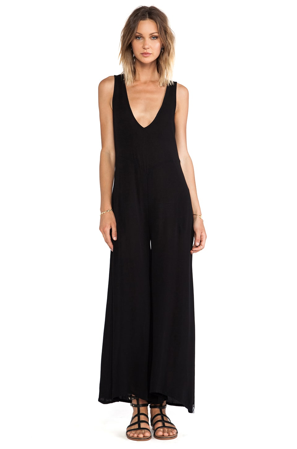 One Teaspoon Black Jack Jumpsuit in Black