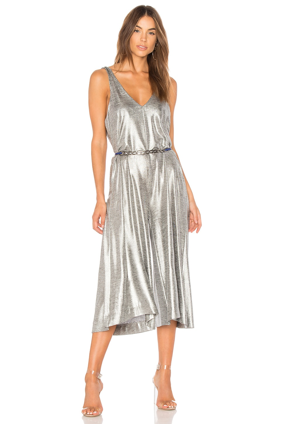 599c81019e09 ONE TEASPOON Rebel Muse Jumpsuit in Silver