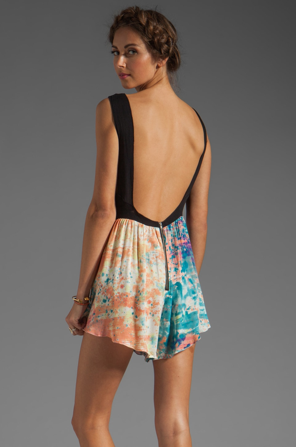 One Teaspoon Young Blood Cali Romper in Speckle