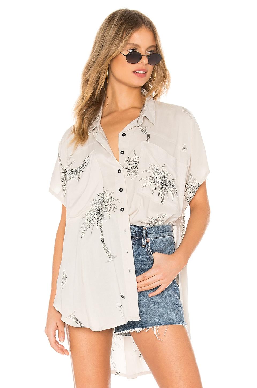 One Teaspoon Palm Island Shirt in Stone