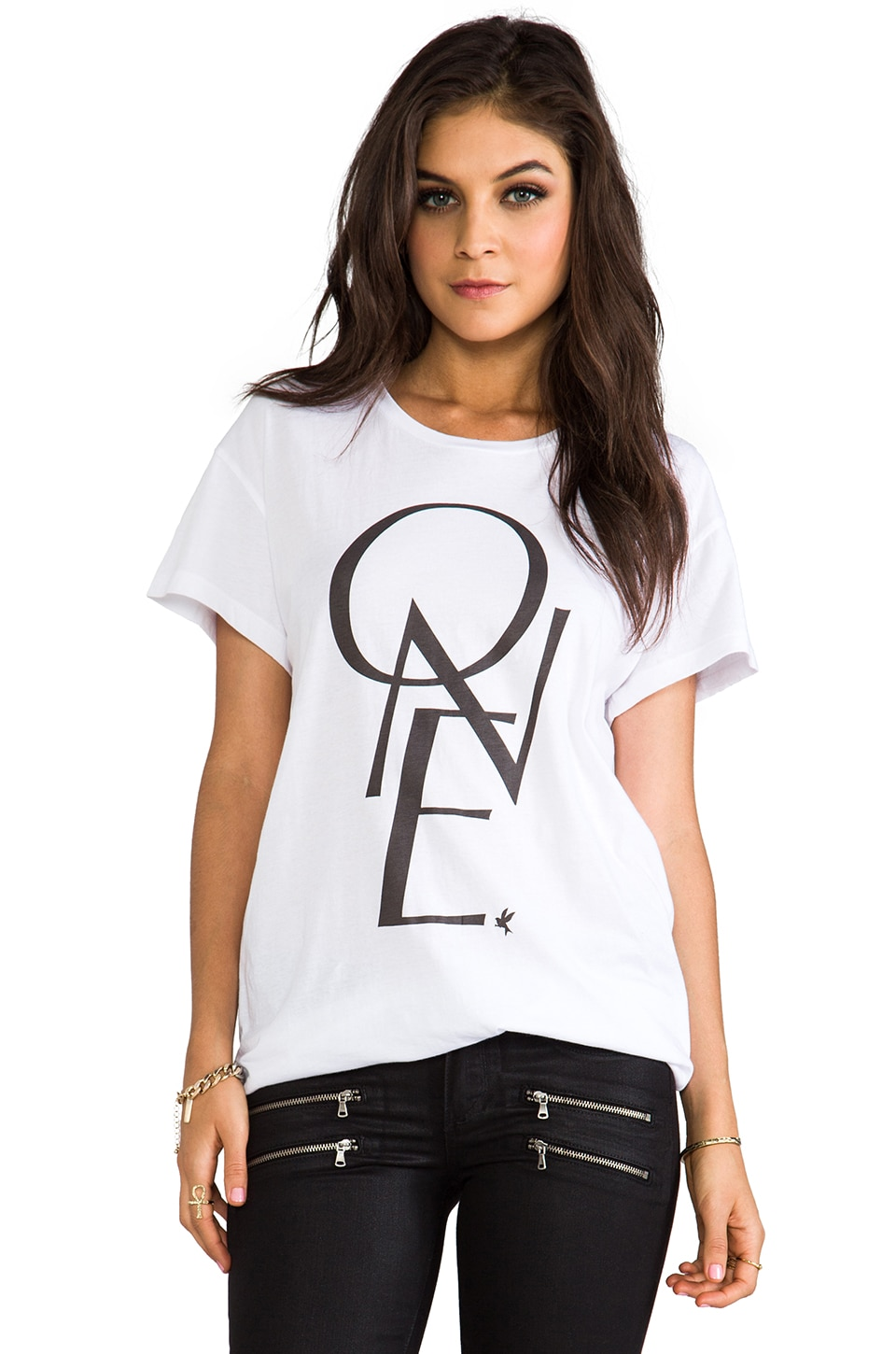 One Teaspoon One By One Gypsy Tee in White
