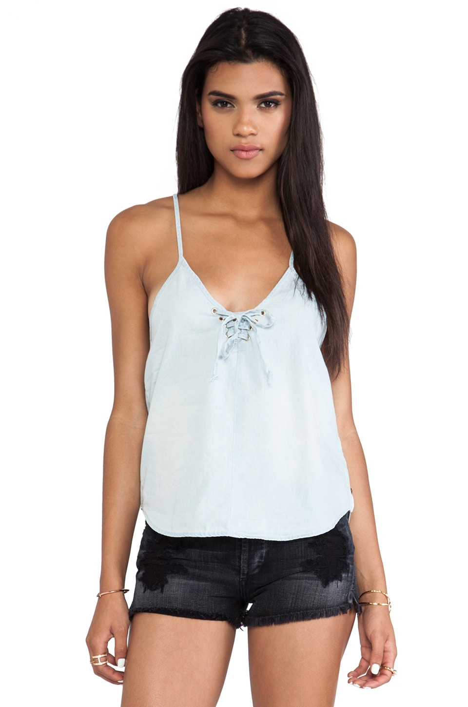 One Teaspoon Silver Rebel Cami in Beached Chambray