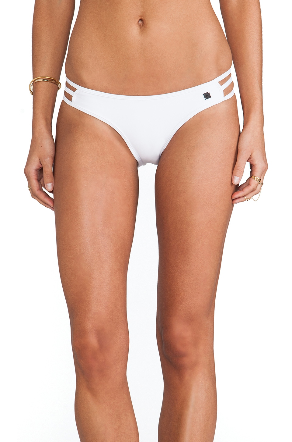 One Teaspoon Superman Bottom in White