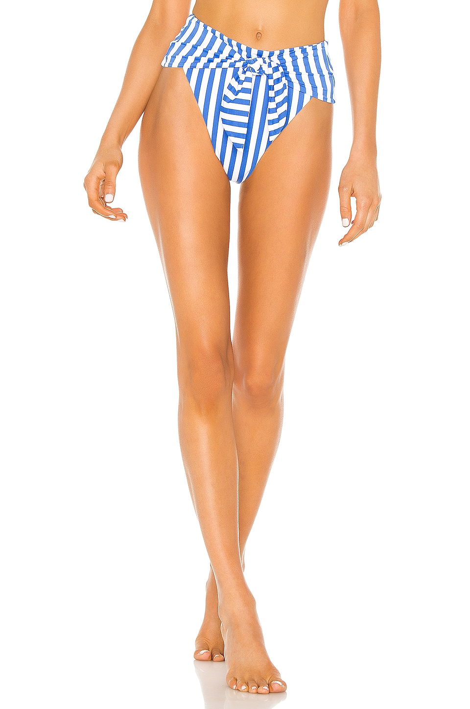 onia x WeWoreWhat Riviera Bottom in Cabana Stripe Palace Blue