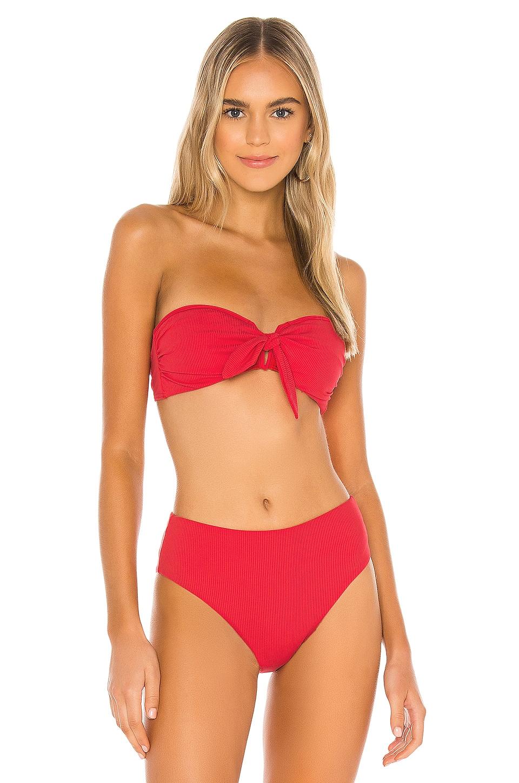 onia Madeline Bikini Top in Red Rock