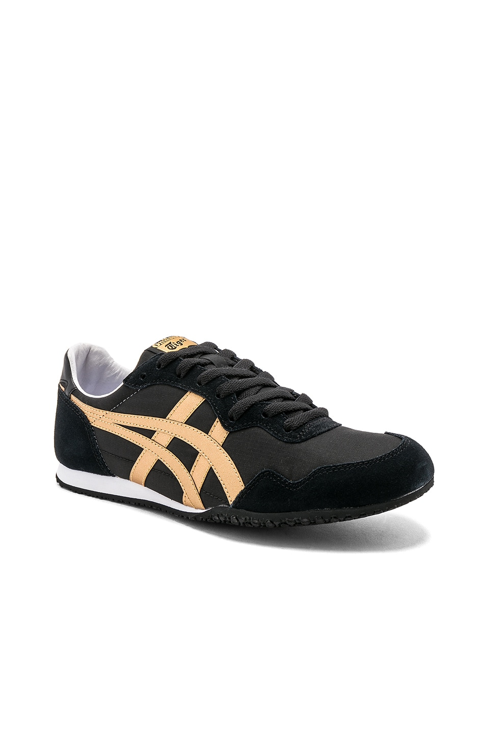 pretty nice 3976b b9301 Onitsuka Tiger Serrano in Black & Gold | REVOLVE