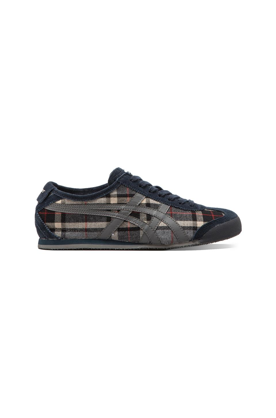 Onitsuka Tiger Mexico 66 in Grey Tartan/Dark Grey