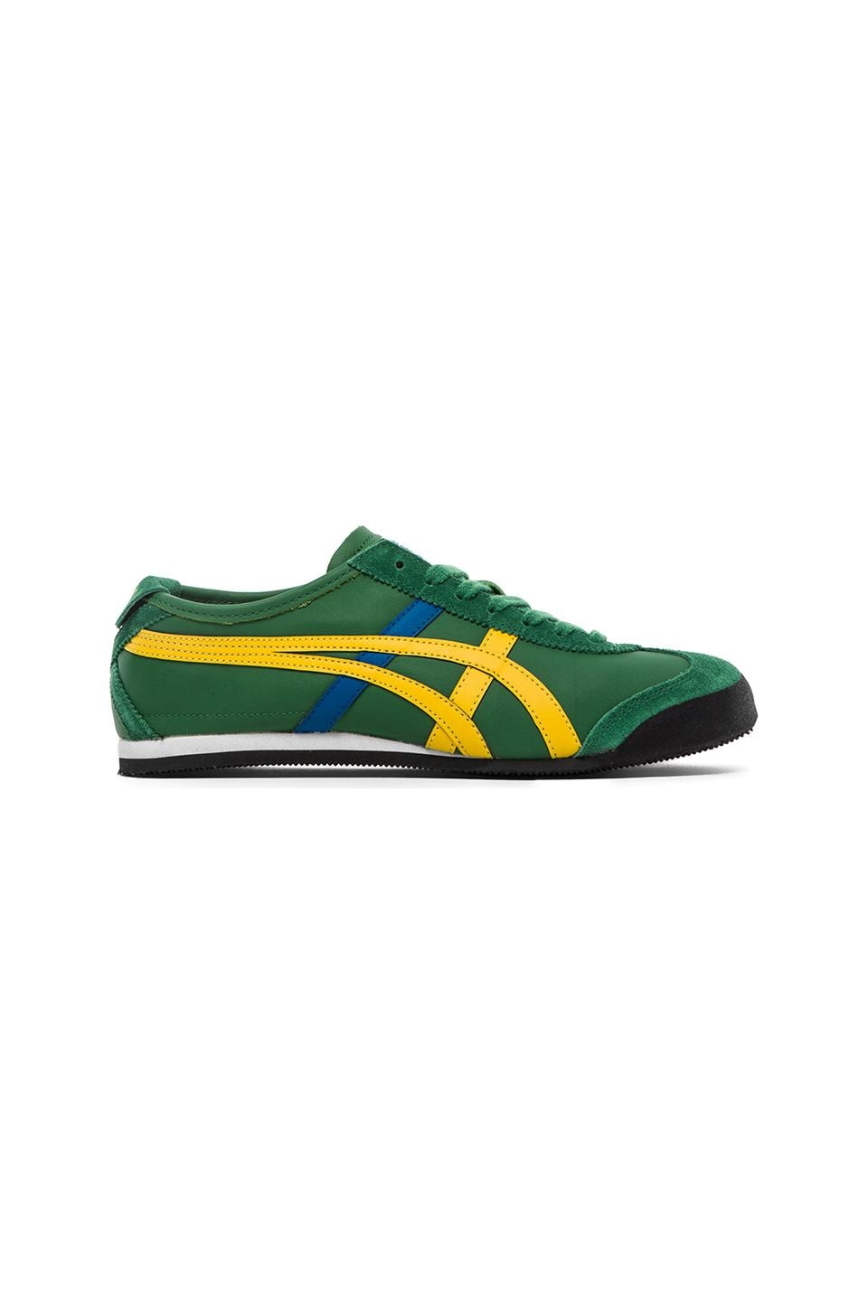 9359b1ef80469 Onitsuka Tiger Mexico 66 in Amazon Green & Yellow | REVOLVE