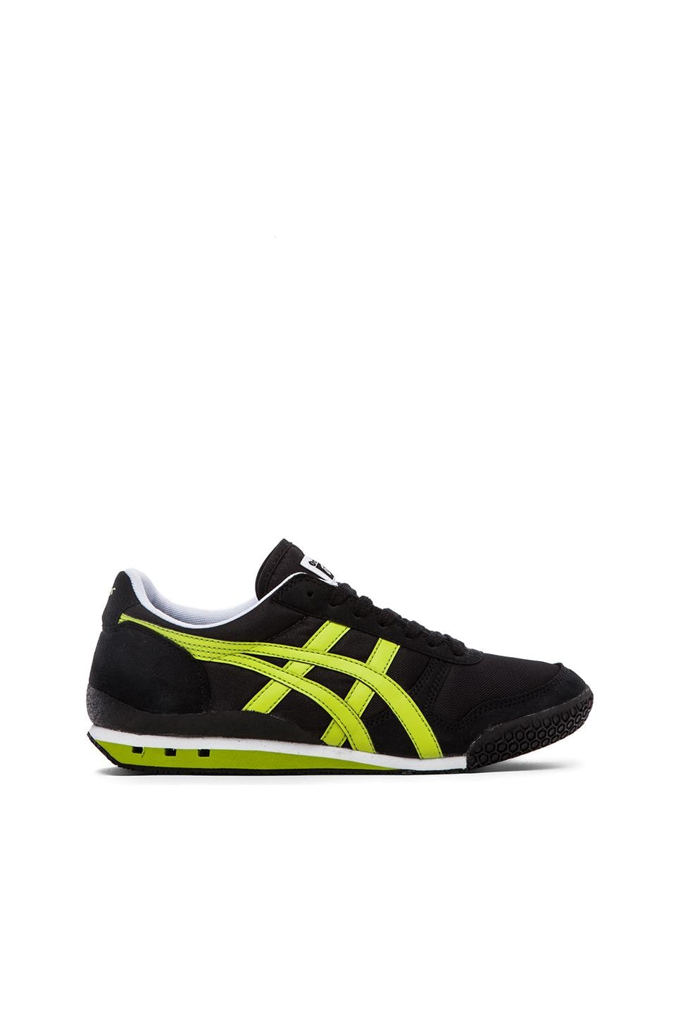 Onitsuka Tiger Ultimate 81 in Black & Lime