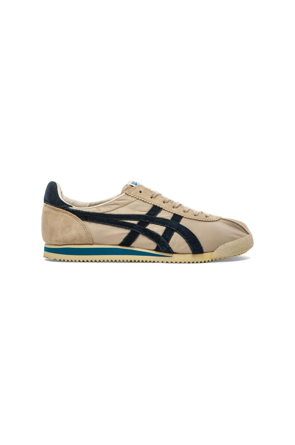 new concept 101a0 33b70 Onitsuka Tiger Corsair Vin in Sand & Navy | REVOLVE