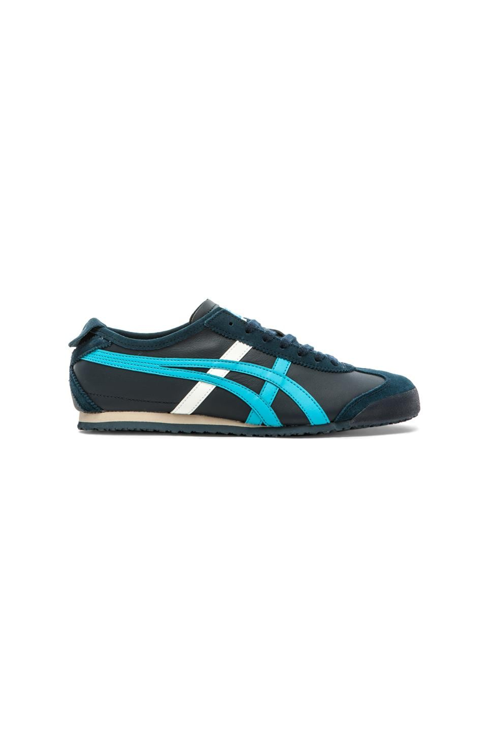 wholesale dealer 808a3 ebba0 Onitsuka Tiger Mexico 66 in Navy & Atomic Blue | REVOLVE
