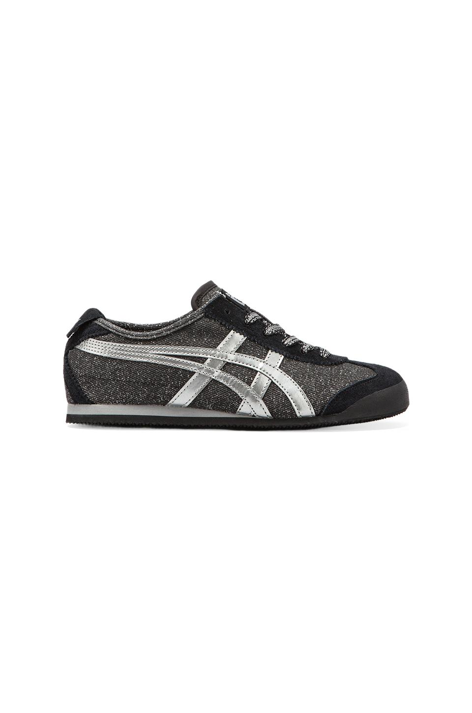 Onitsuka Tiger Mexico 66 in Black Glitter