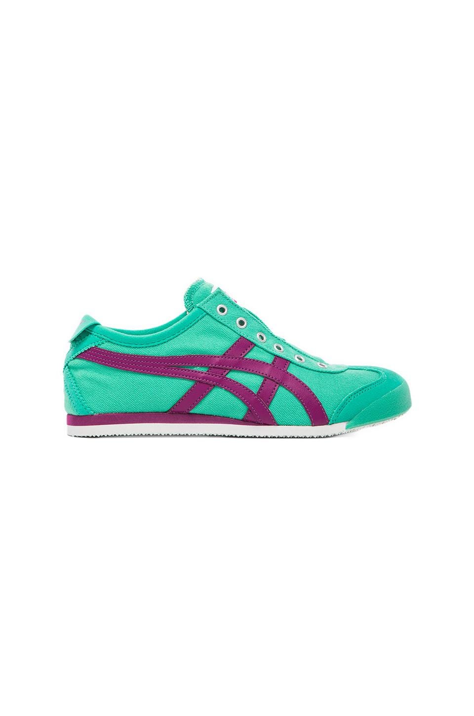 Onitsuka Tiger Mexico 66 Slip On in Mint & Purple