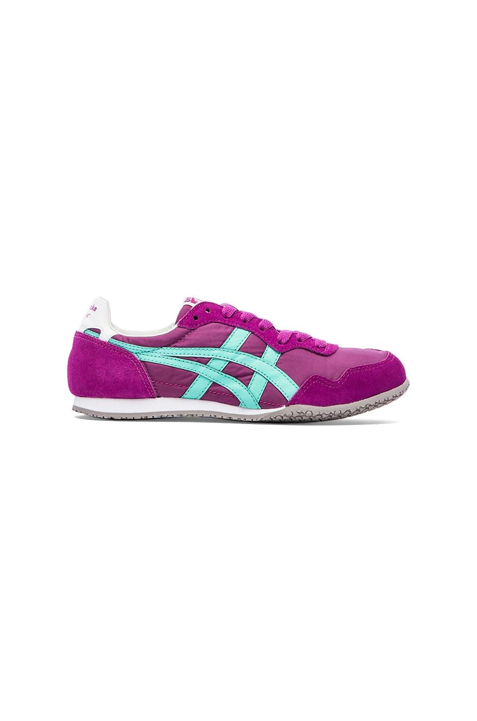 Onitsuka Tiger Serrano Sneakers in Purple & Aqua