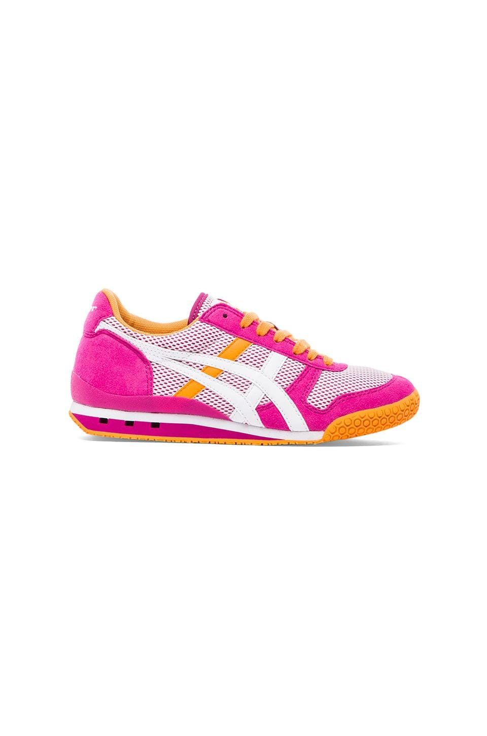 Onitsuka Tiger Ultimate 81 Sneaker in Magenta & White