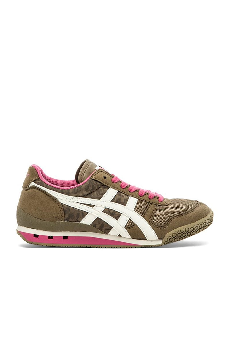 Onitsuka Tiger Ultimate 81 Sneaker in Olive Leopard & Off White