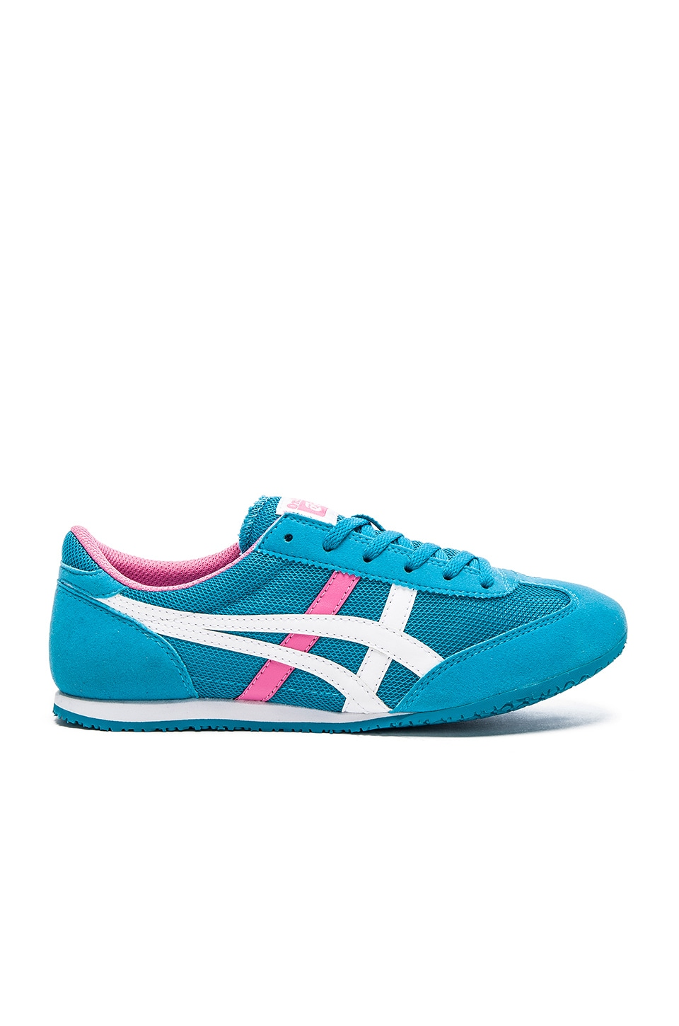 release date 04368 53453 Onitsuka Tiger Machu Racer in Algier's Blue & White | REVOLVE