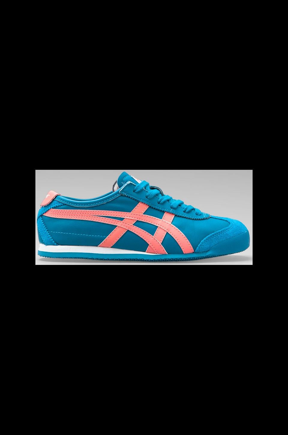 Onitsuka Tiger Mexico 66 in Blue/Coral