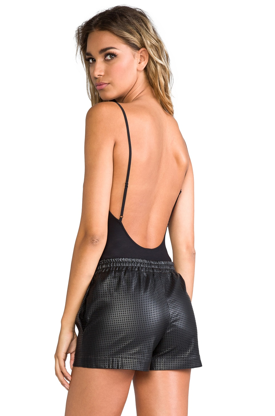 Only Hearts Second Skins Lowback Bodysuit in Black