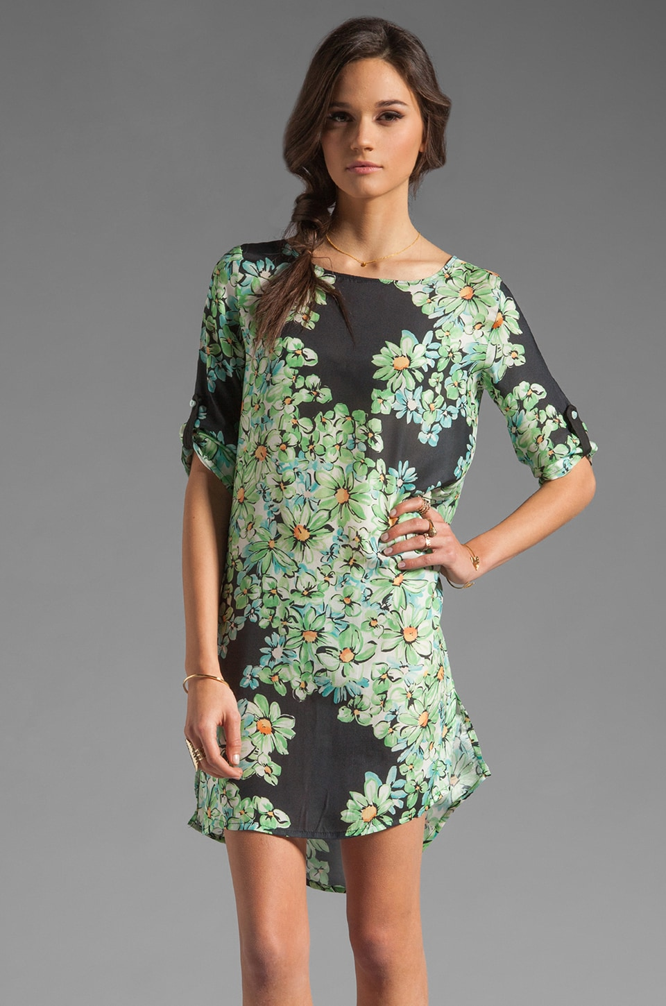 Only Hearts Shift Dress in Menthol Flower