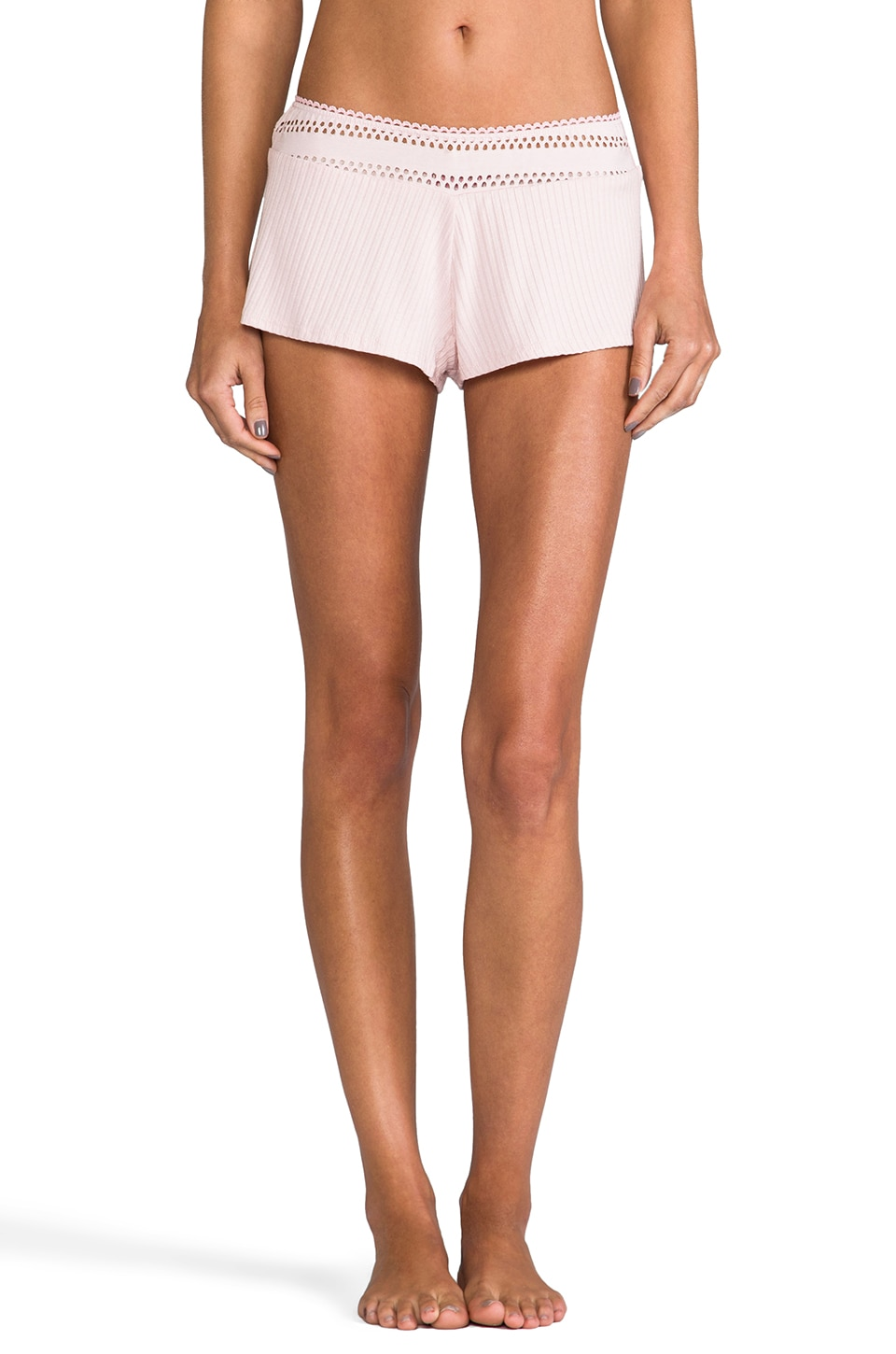 Only Hearts Eyelet Sleep Shorts in Pink