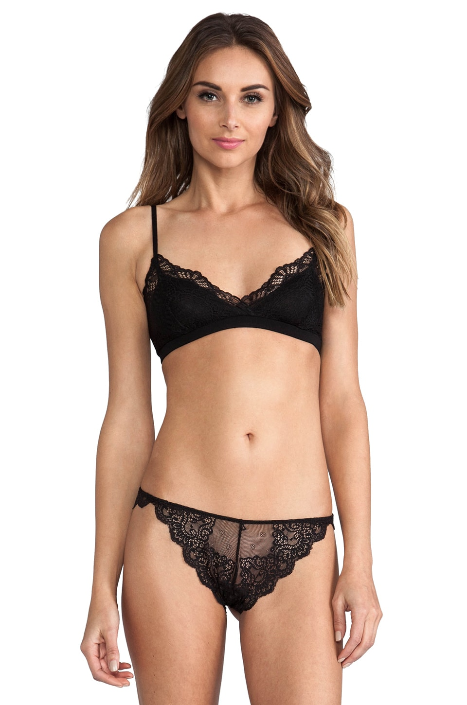 Only Hearts Venice Lace Bralette in Black