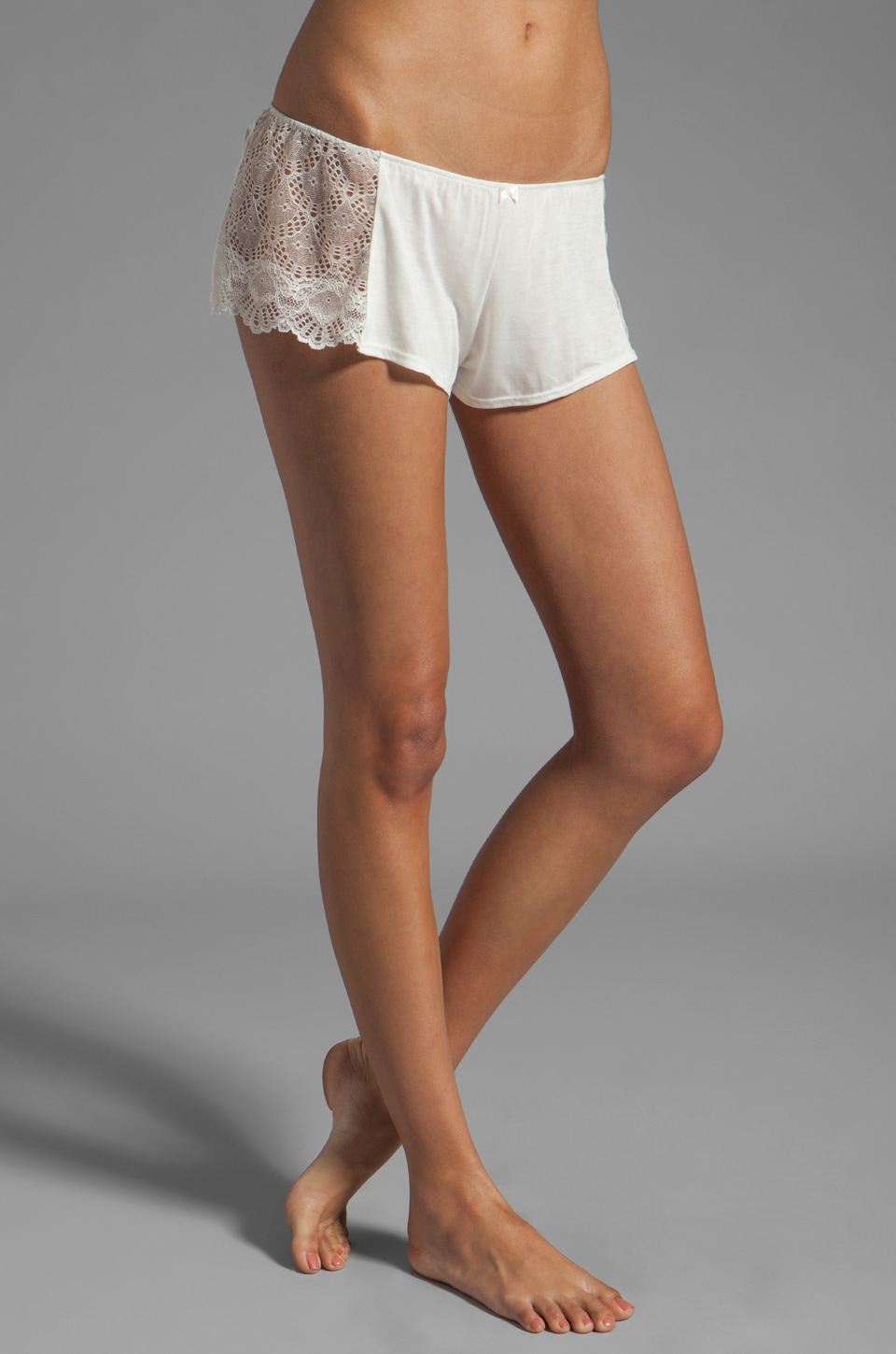 Only Hearts Venice Hipster with Lace Inserts in Antique White