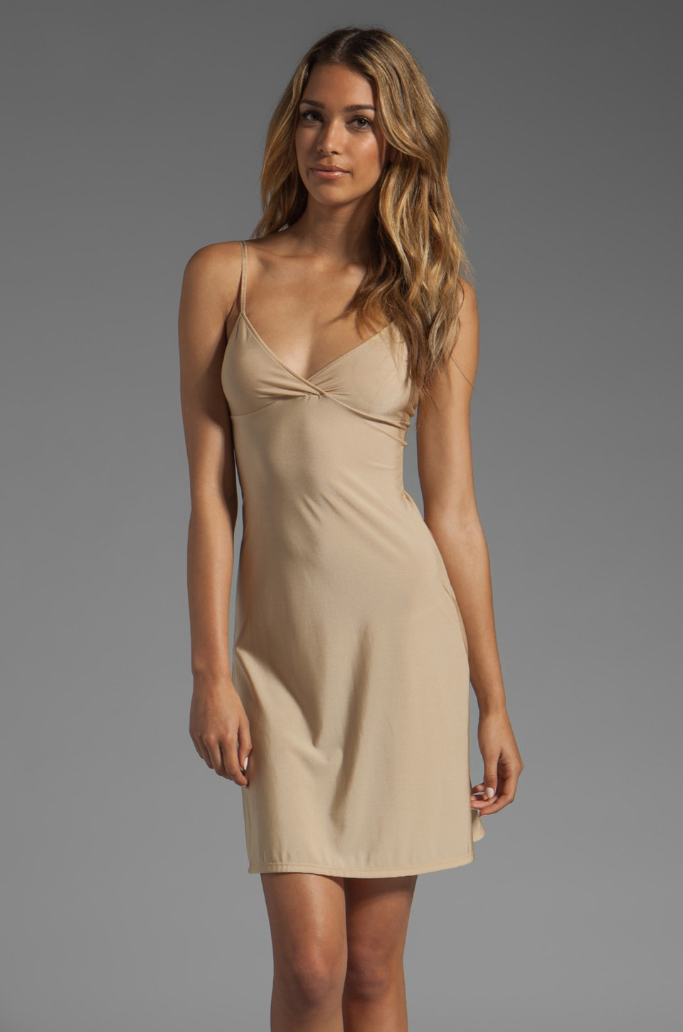 Only Hearts Second Skins Convertible Racerback Chemise in Nude