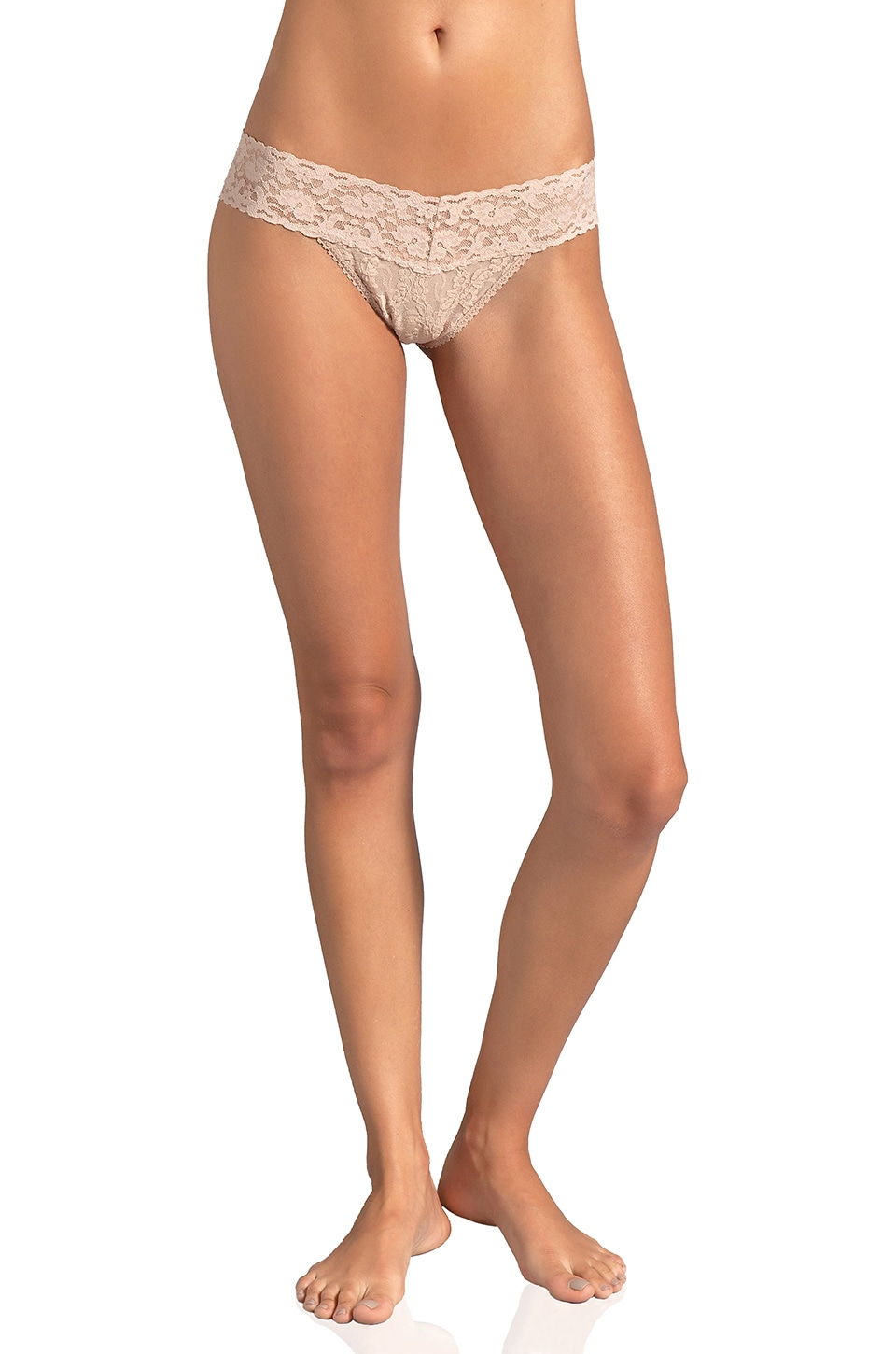 Only Hearts Low Rise Thong in Nude