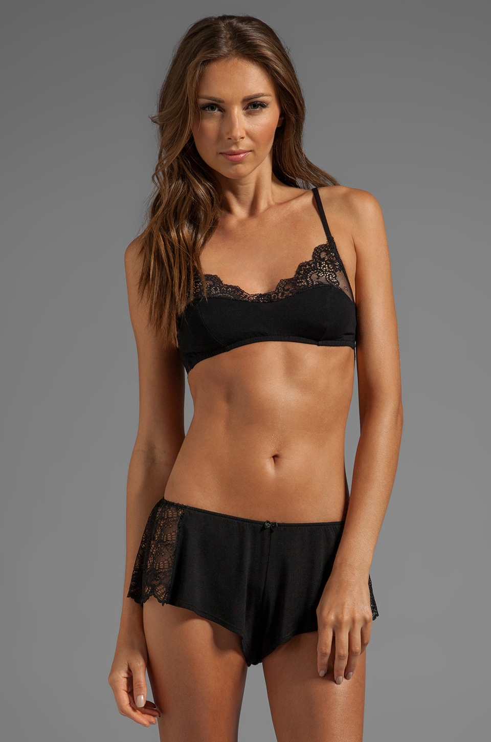 Only Hearts So Fine Lace Bralette in Black