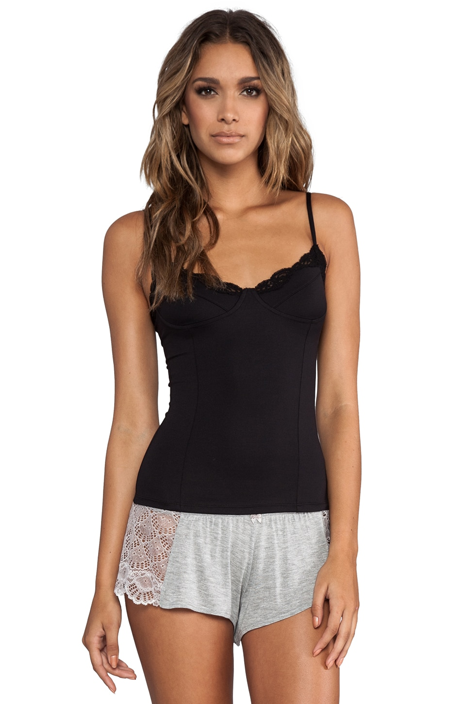 Only Hearts Delicious Lace Balconette Cami in Black