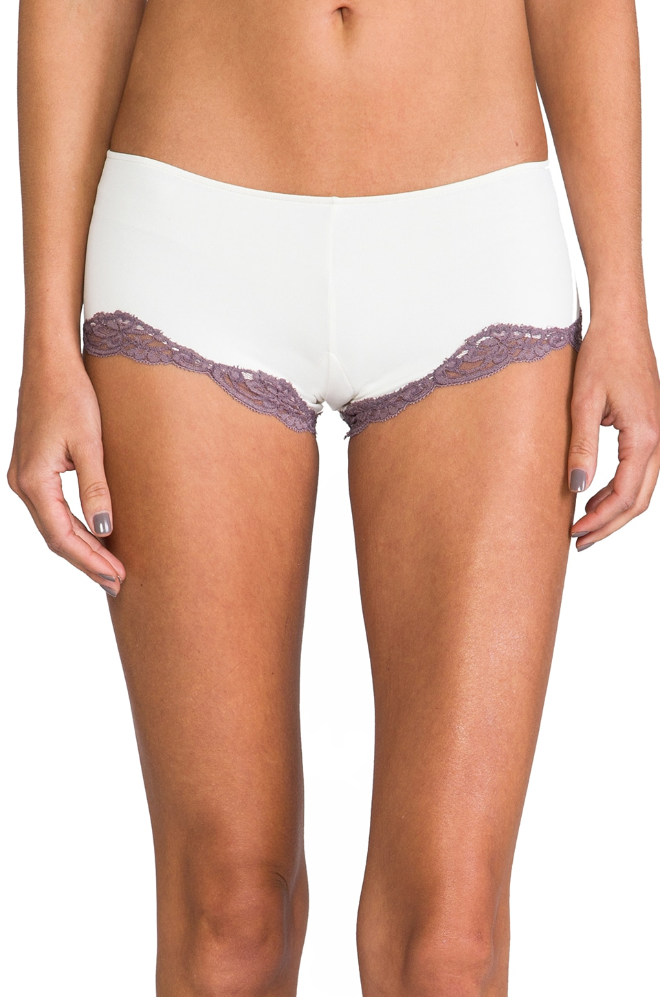 Only Hearts Delicious Lace Hipster in Creme/Shadow