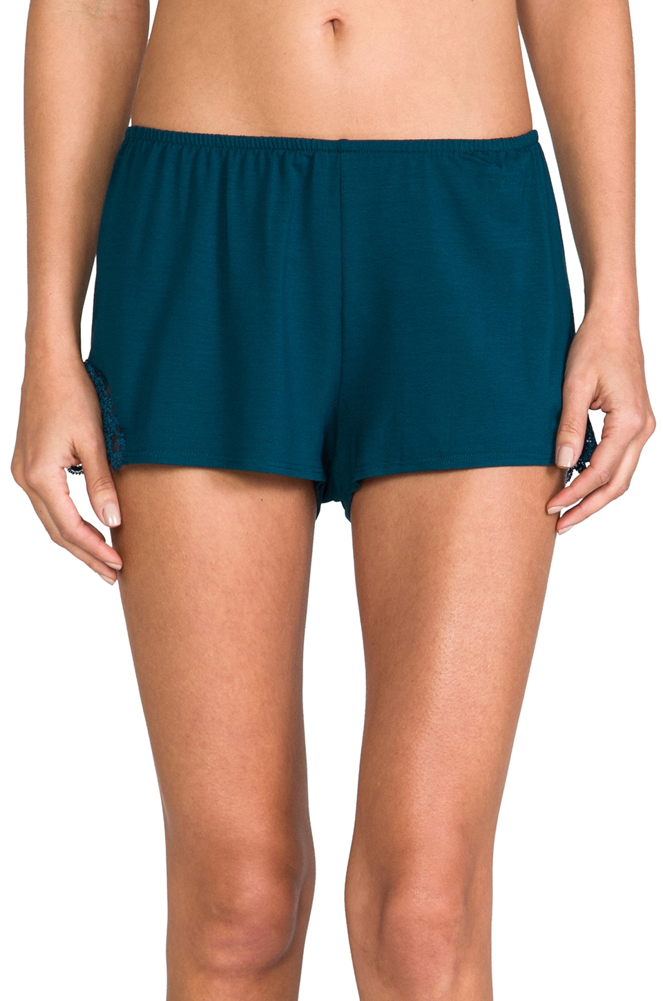 Only Hearts So Fine Lace Sleep Shorts in Teal